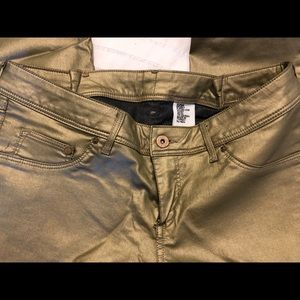 H&M GOLD skinny jeans size 32